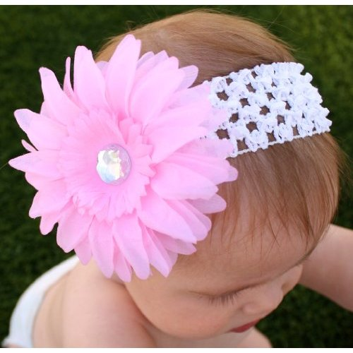 bandeau cheveux fille bebe 0 10 ans 14 couleurs grande fleur diamant headband ebay. Black Bedroom Furniture Sets. Home Design Ideas